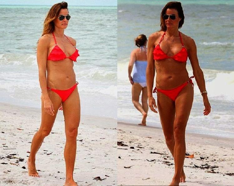 Kelly Bensimon wears a Bikini at Naples, Florida on Saturday, April 19, 2014