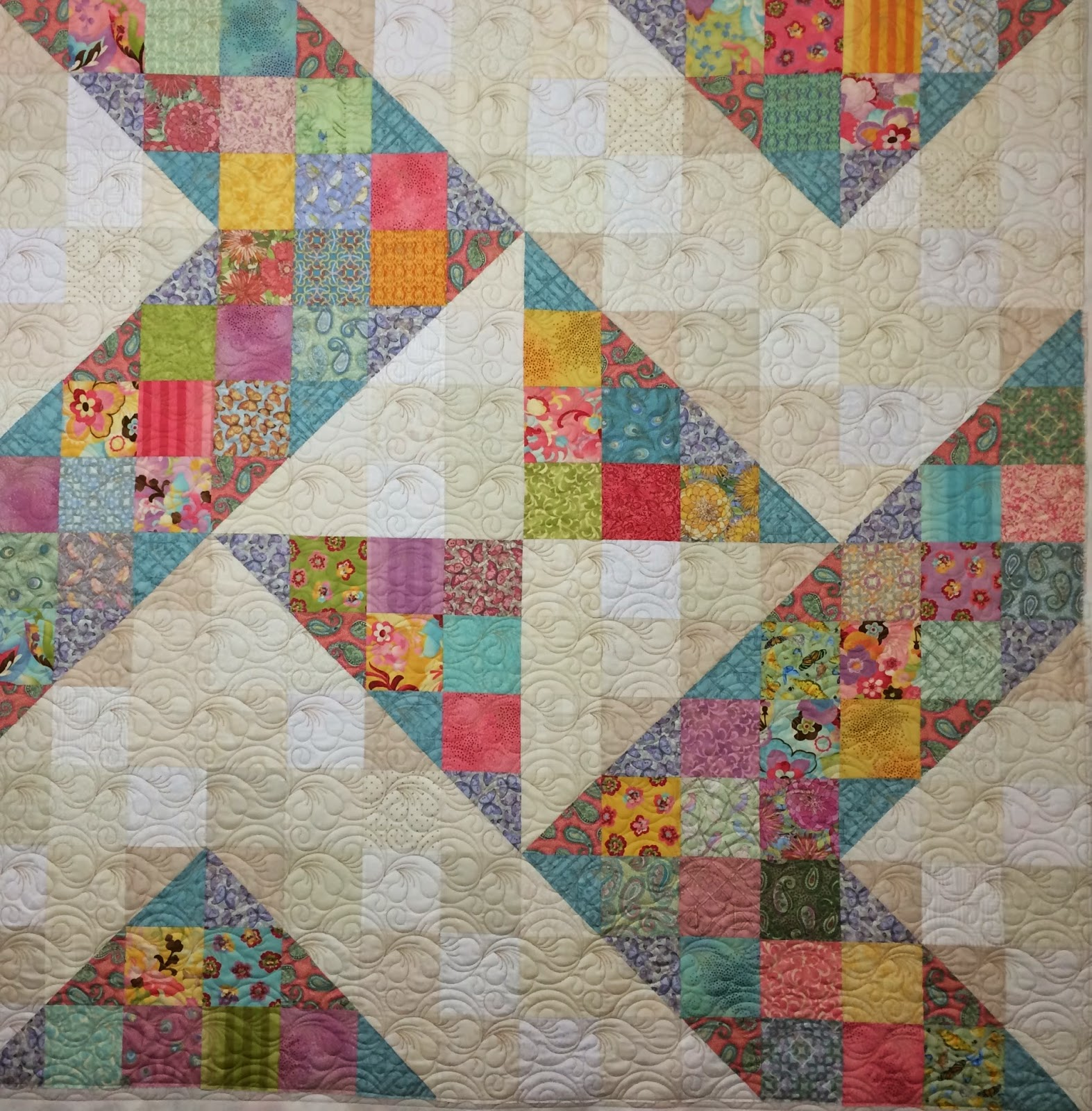 Lynne Capps Triangles Quilt