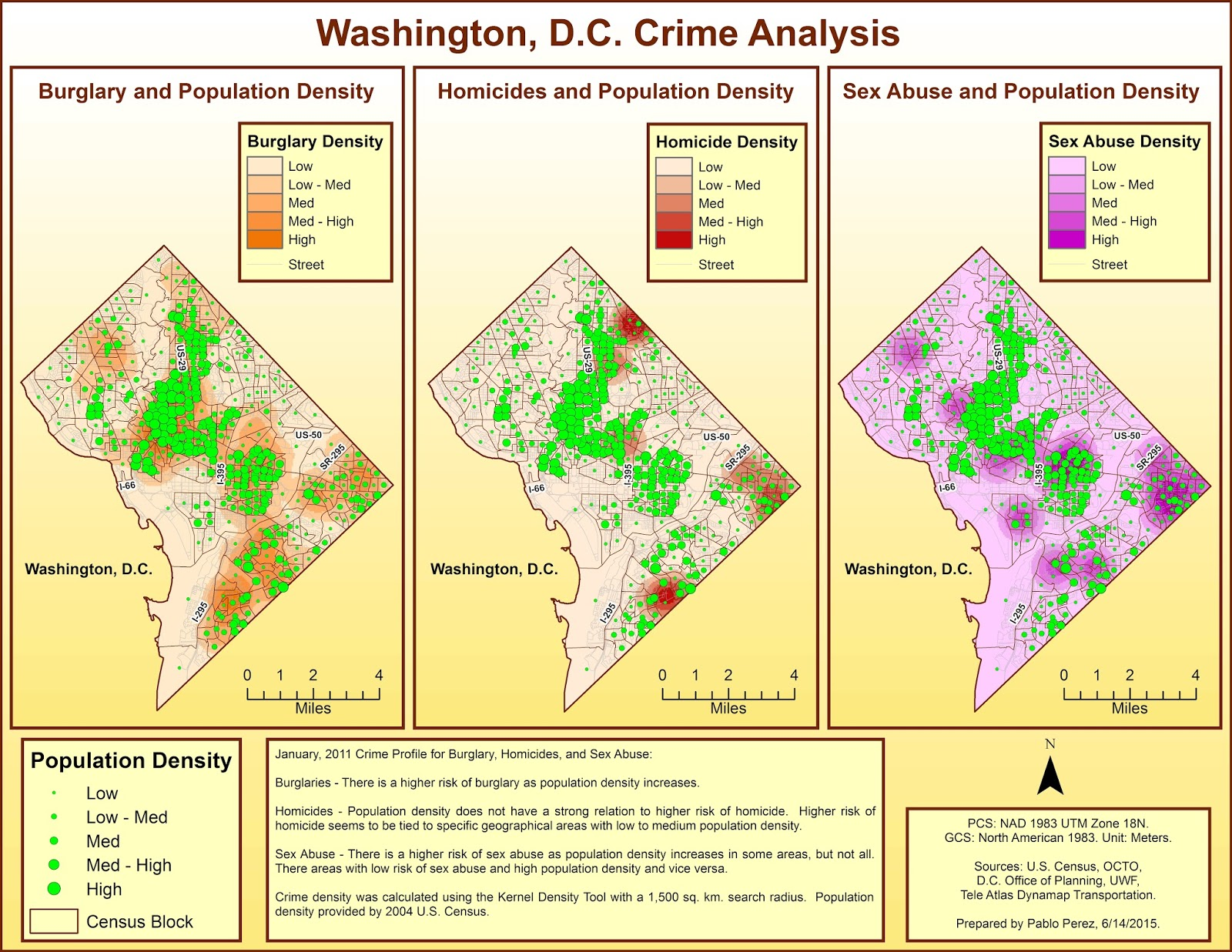 below are the two maps depicting crime analysis for washington d c
