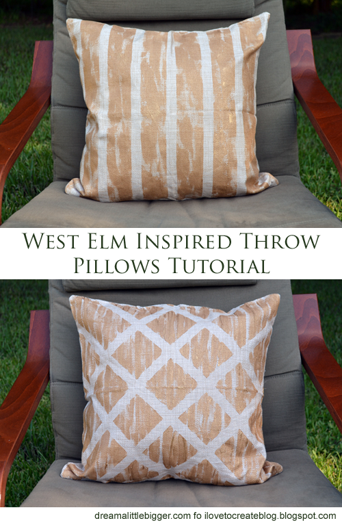 ilovetocreate blog west elm inspired diy throw pillows. Black Bedroom Furniture Sets. Home Design Ideas