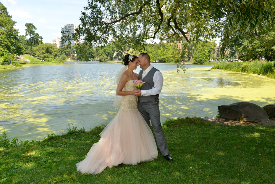 Rachel and Neal - Harlem Meer Bridal Portrait