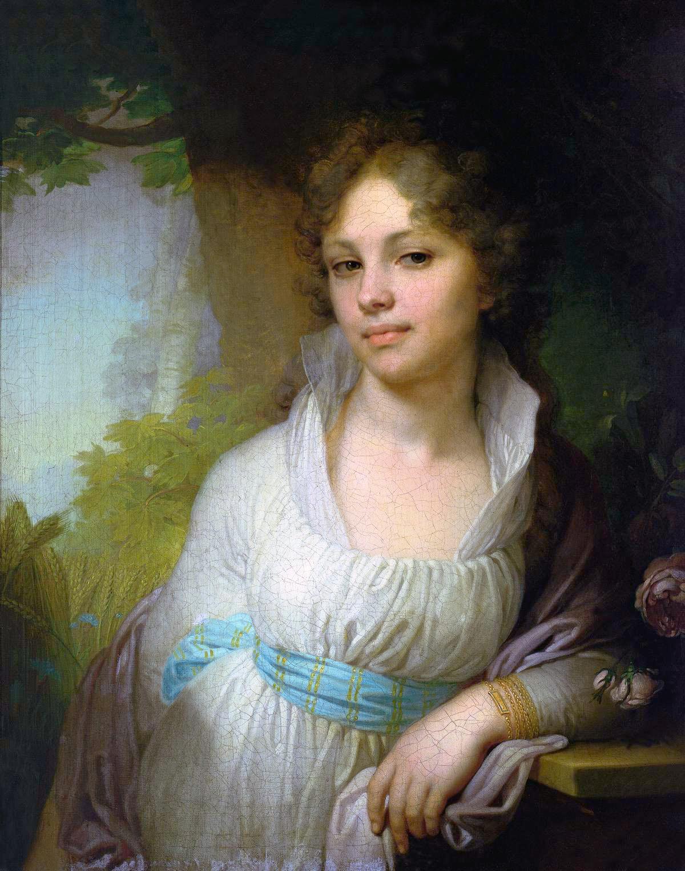 От Оли pink lu-lu получила любимейший портрет Лопухиной.  Оля. спасибо большое за него и за красивую марку.