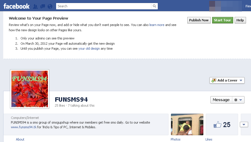 how to get timeline on facebook business page