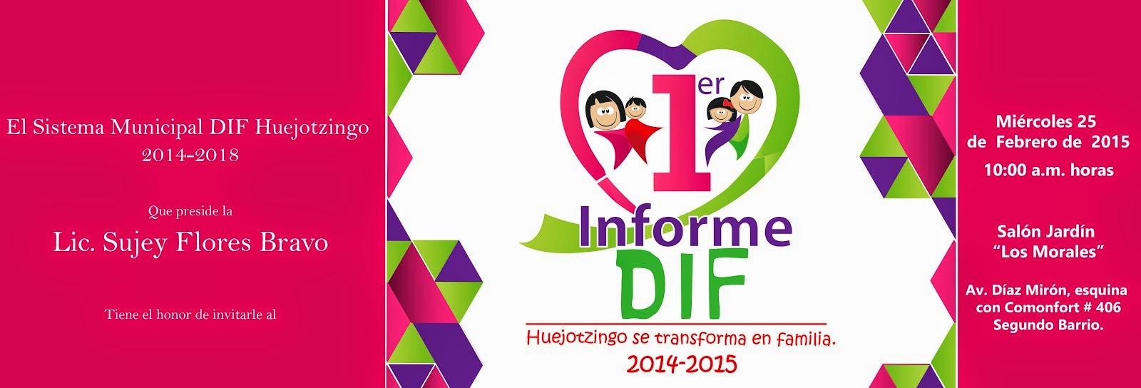 Informe del SMDIF Huejotzingo
