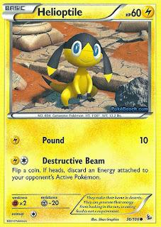 Helioptile Flashfire Pokemon Card