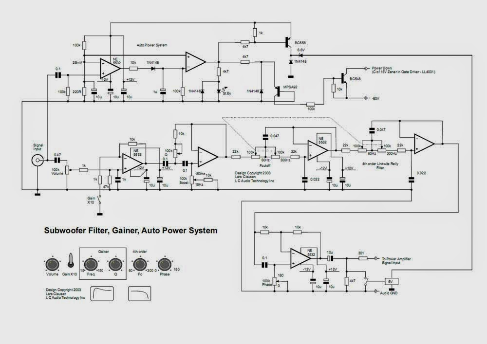 AmplifierCircuits.com: Subwoofer Diagram