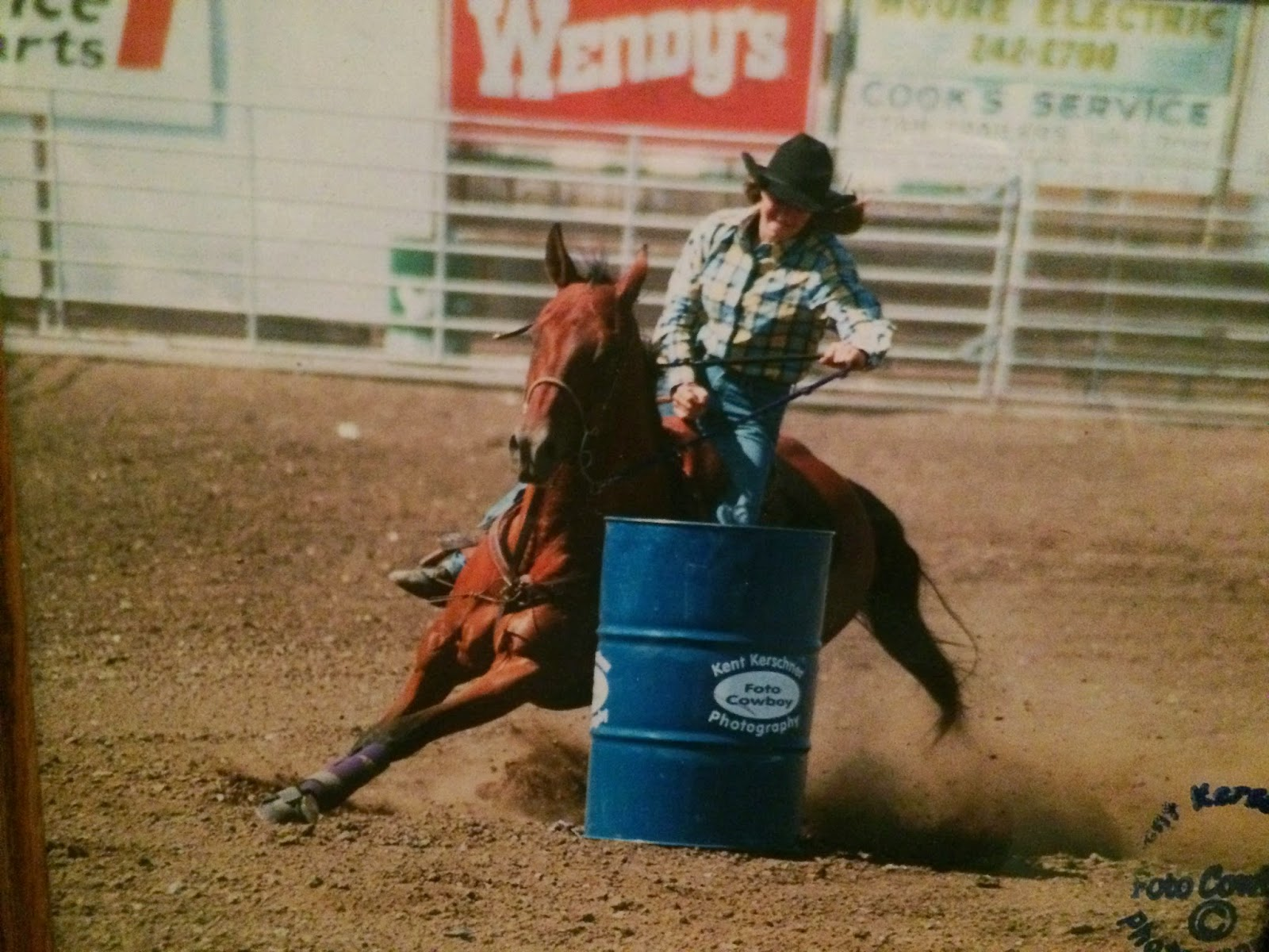 Barrel racing at Ottawa, KS high school rodeo