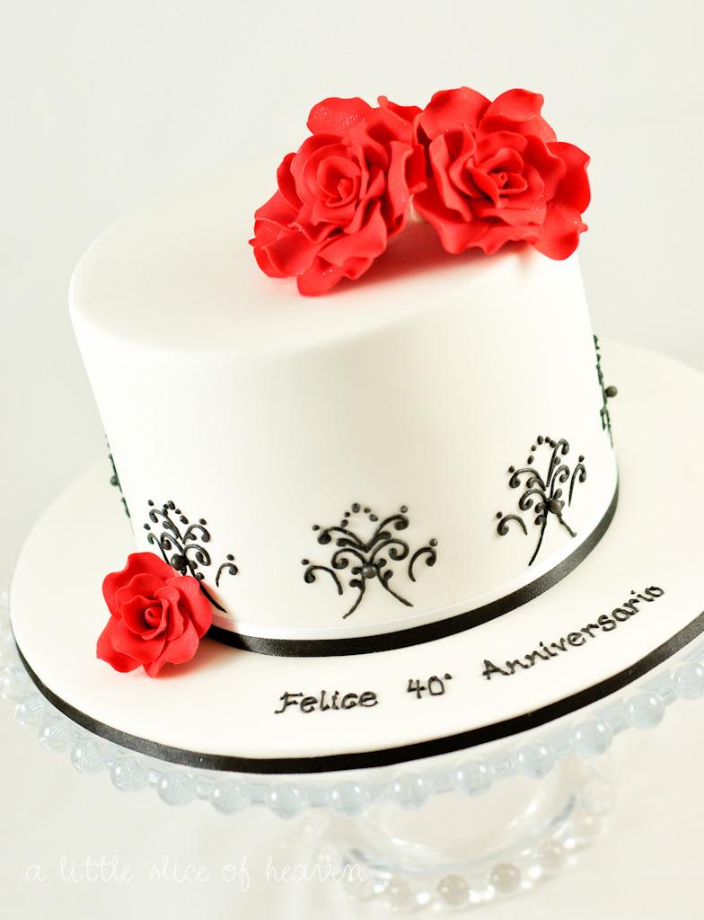 a little slice of heaven: Wedding anniversary cake