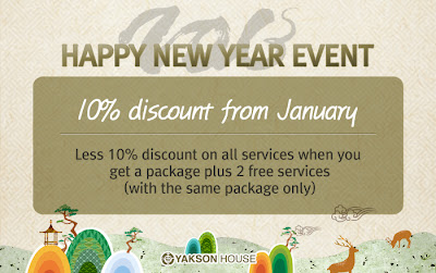 Less 10% discount on all services when you get a package plus 2 free services(with the same package only)
