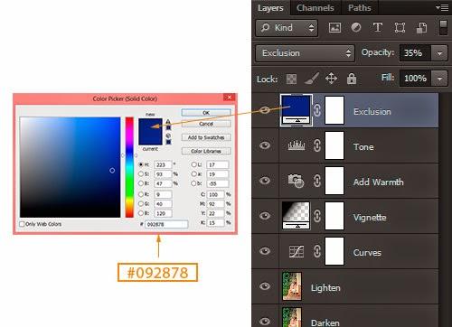 Belajar Edit Foto Efek Mademoiselle dengan Menggunakan Fill Layer Solid Color Photoshop CS6