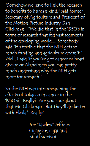 THE NIH WILL SAVE YOU!