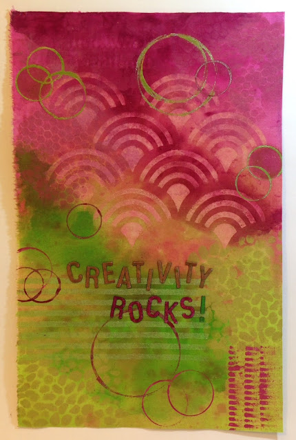 fabric painting lisa fulmer creativity rocks