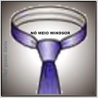 Nó de gravata Meio Windsor ou Windsor simples.