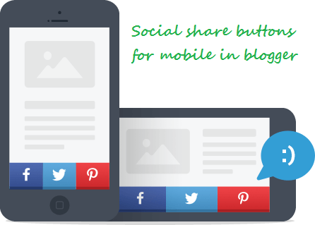 Responsive social sharing buttons for mobile