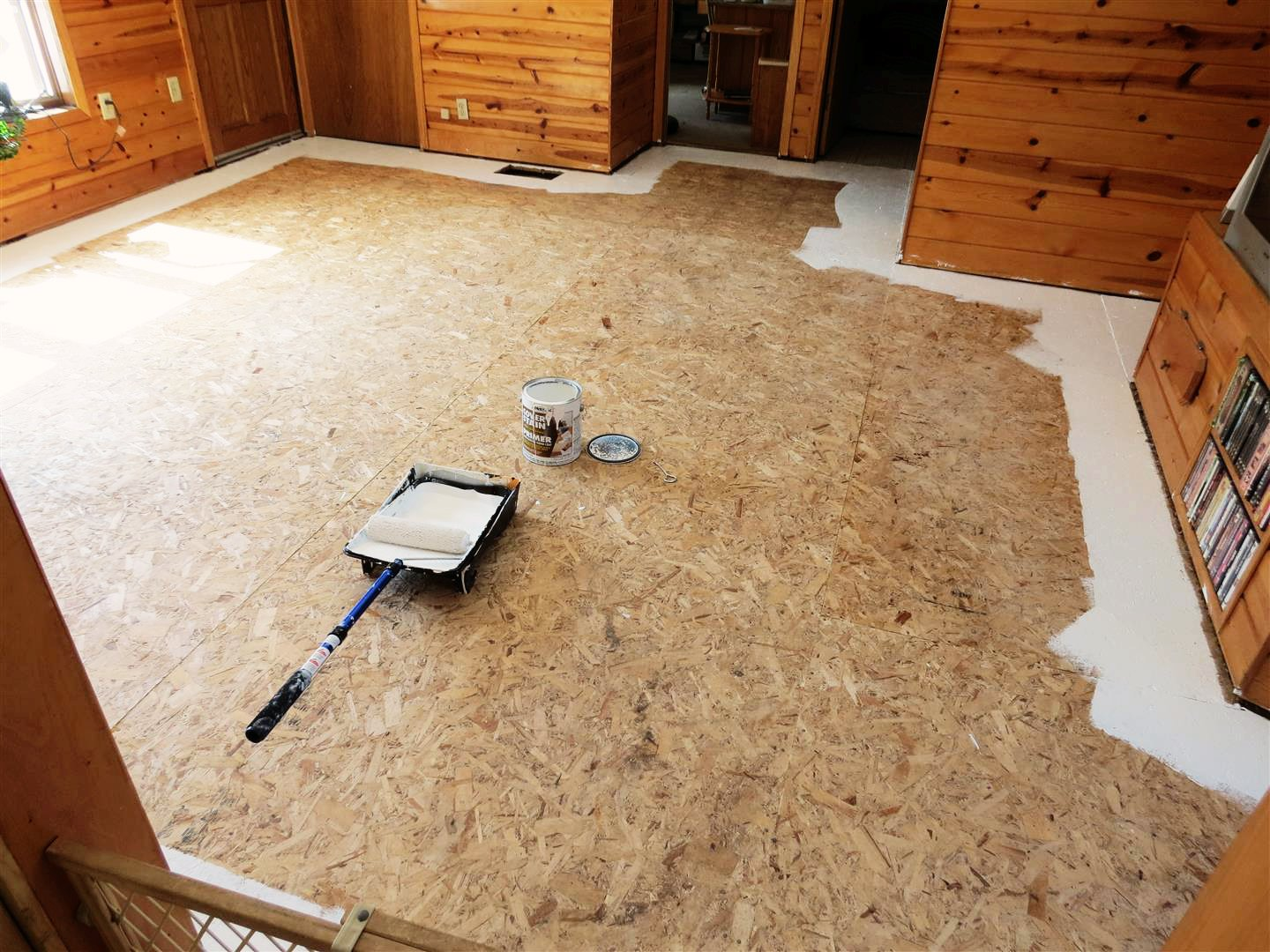 Black spruce hound painted plywood floors revisited for Painting plywood floors ideas