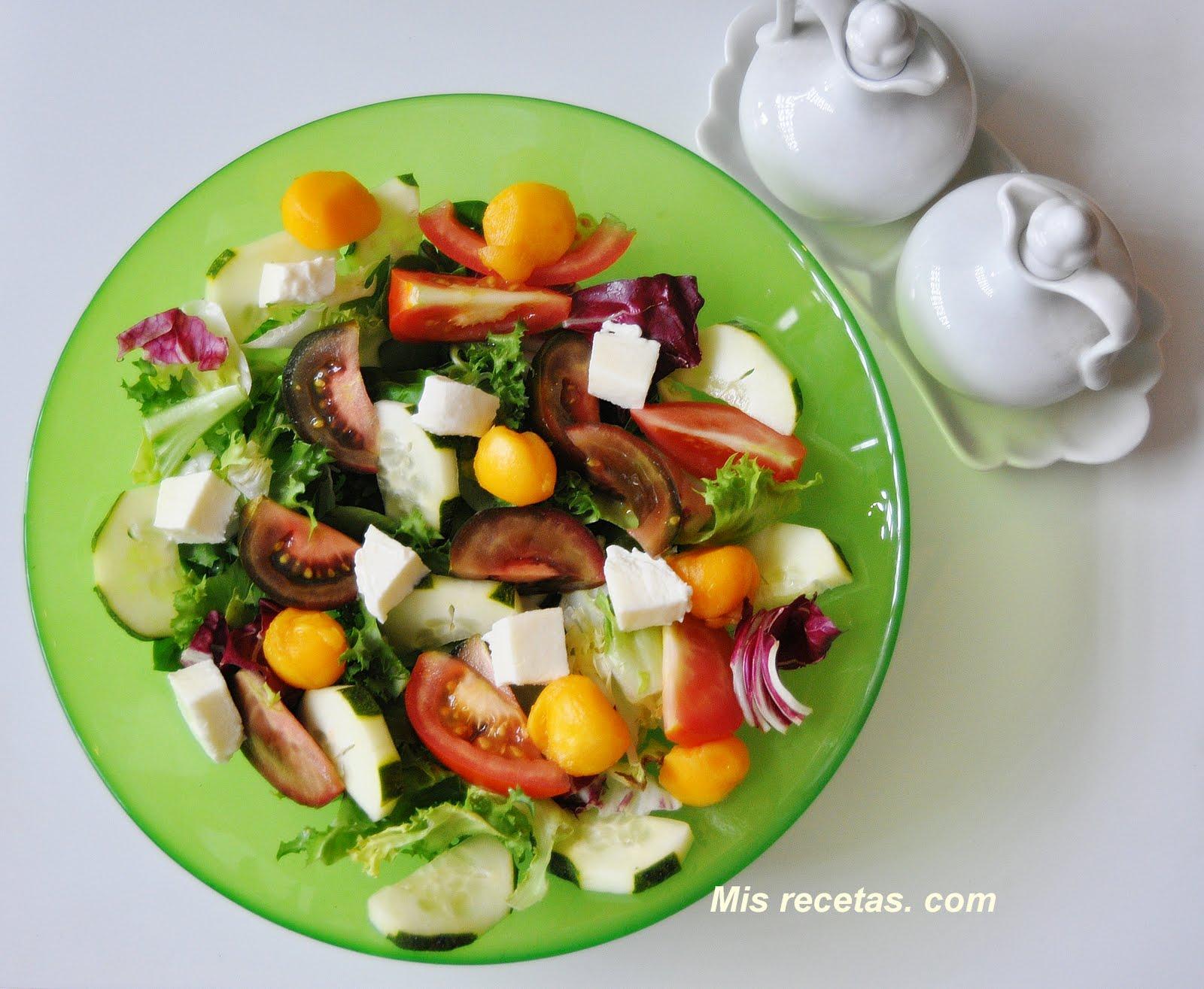 Mis recetas com ensalada de melocot n y mozzarella - Ensaladas gourmet faciles ...