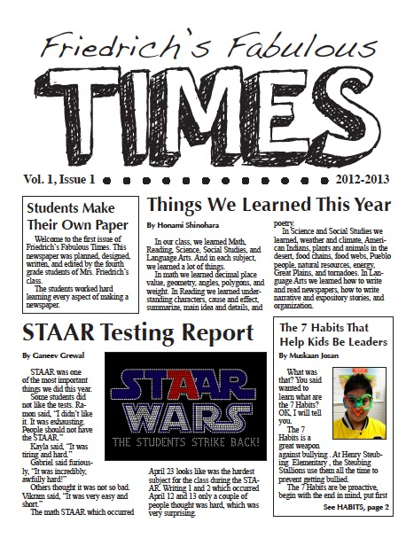 Creating A Classroom Newspaper: Part 3 Of 3