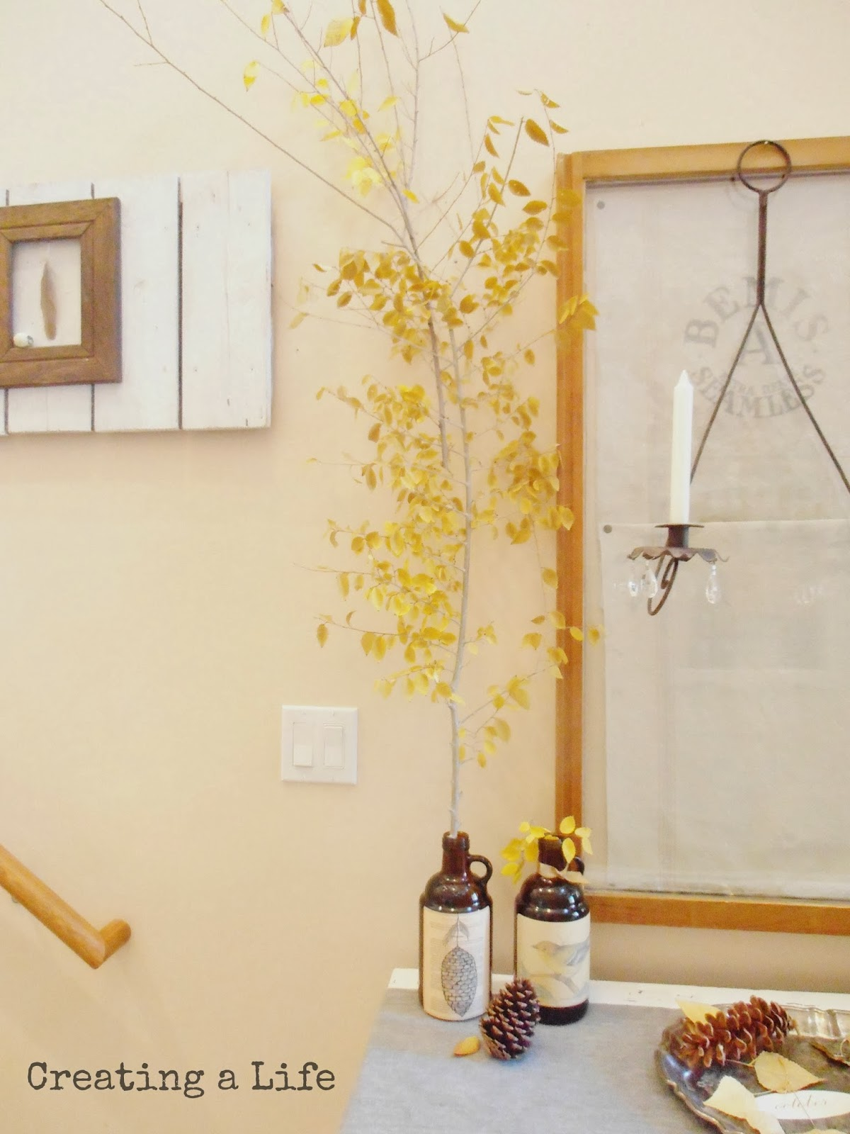 Creating A Life: Nature Inspired Fall Foyer {Pt. 2}- The Stairway