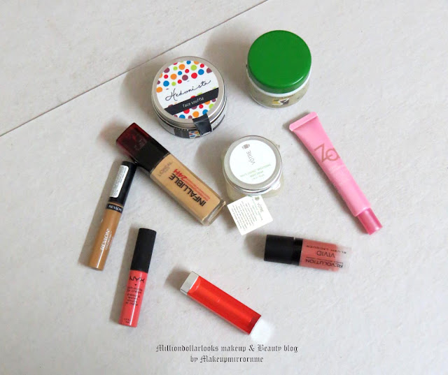 Monthly Makeup & Beauty Favorites: June 2015 Edition, Indian makeup and beauty blog, Monthly makeup favorites, Monthly beauty favorites, Nyx soft matte lip cream, Makeup revolution vivid blush acquer, Maybelline rebel bouquet, Indian beauty blogger