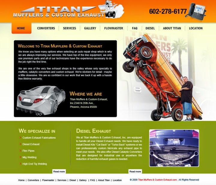 Titan Mufflers and Custom Exhaust