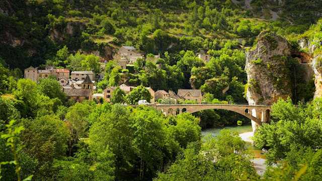 Gorges of Tarn in Cévennes National Park, Languedoc-Roussillon, France (© Jan Wlodarczyk/Alamy 647