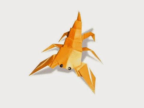 Cách gấp, xếp con bọ cạp bằng giấy origami - Video hướng dẫn xếp hình côn trùng - How to fold a Scorpion