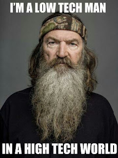 Phil Robertson does not own a cell phone or computer. I repeat, NO