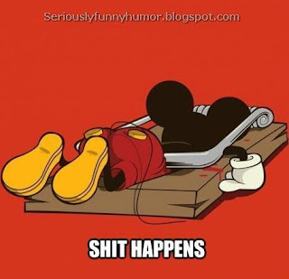 Mickey Mouse caught in mouse trap - Shit Happens