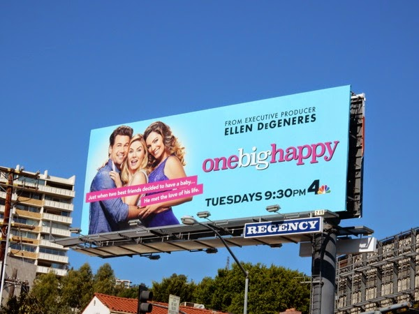 One Big Happy series launch billboard