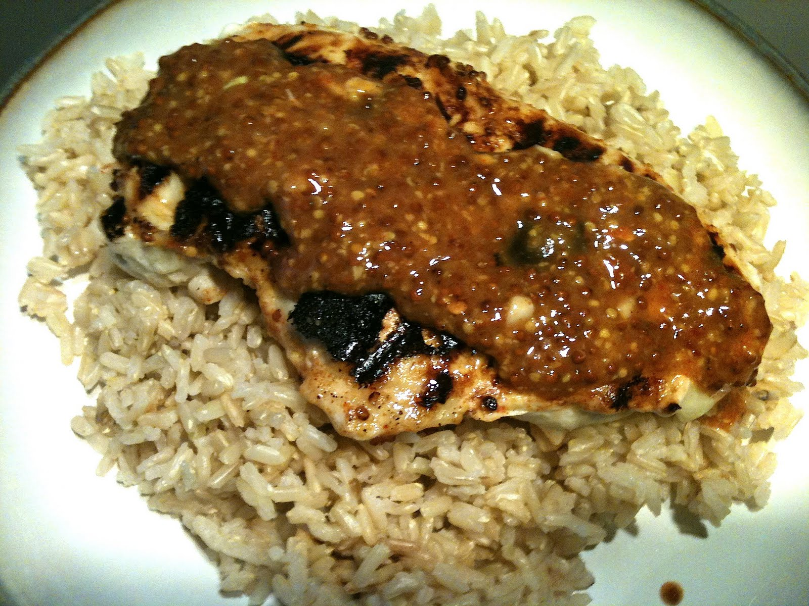Trav's Gone Gluten Free!: Gluten Free Grilled Honey Mustard Chicken