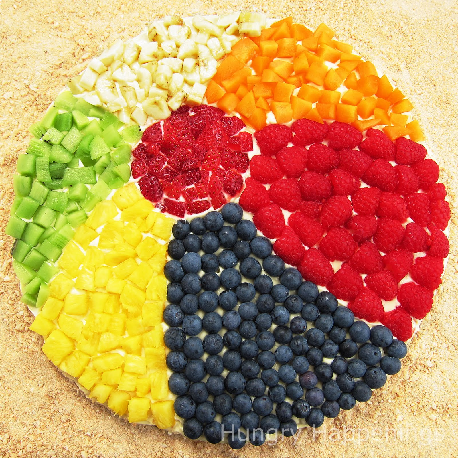 Fruit pizza beach ball fun beach themed summer recipes for Summer food party ideas