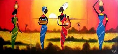 cuadros bonitos negras africanas negras africanas pintura acrílico