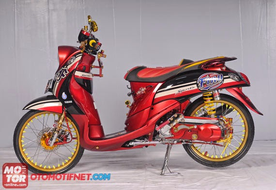 Top modifikasi yamaha mio fino sporty