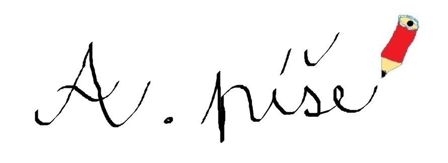 A. píše...