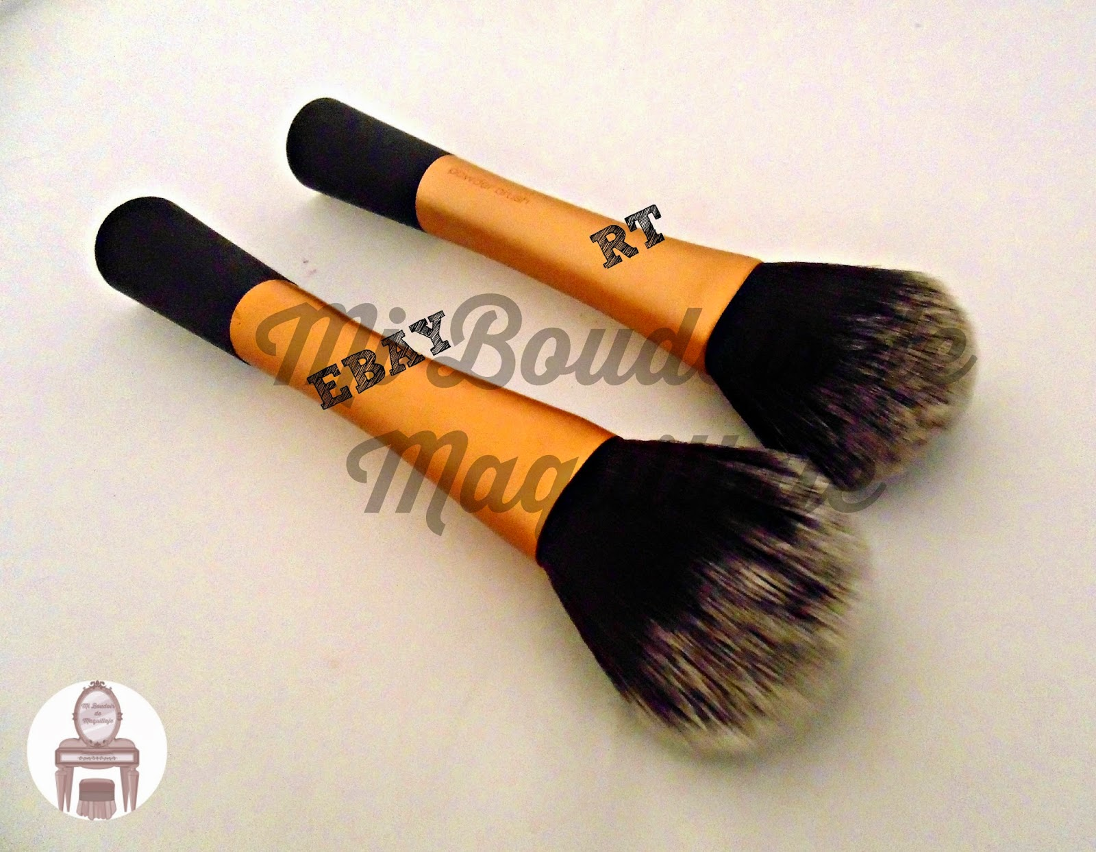 Real Techniques vs Ebay brochas powder brush