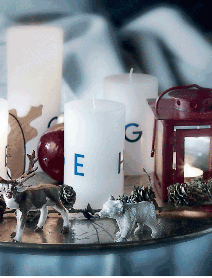 Figuras reno oso Navidad decoracion