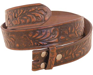 Brown Western Leather Belt