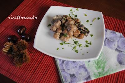 Gnocchetti di castagna profumo del bosco ricetta primi piatti