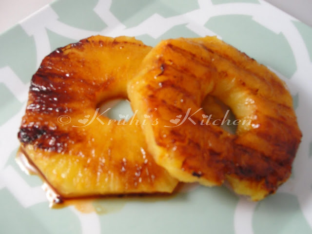 Krithi's Kitchen: Grilled Pineapple Rings