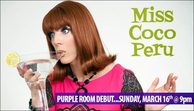 photo - Palm Springs arrival of @themisscocoperu in the @PurpleRoomPS  March 16 2014,