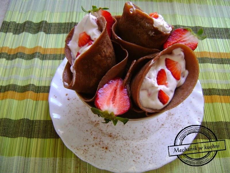 Kakaowe rożki mechanik w kuchni mascarpone