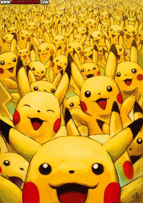 18 animações do mundo dos vídeos games e desenhos - Monstro Pikachu Pokemon