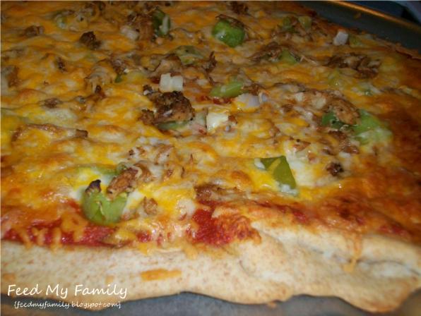 Feed My Family: Chicken Fajita Pizza
