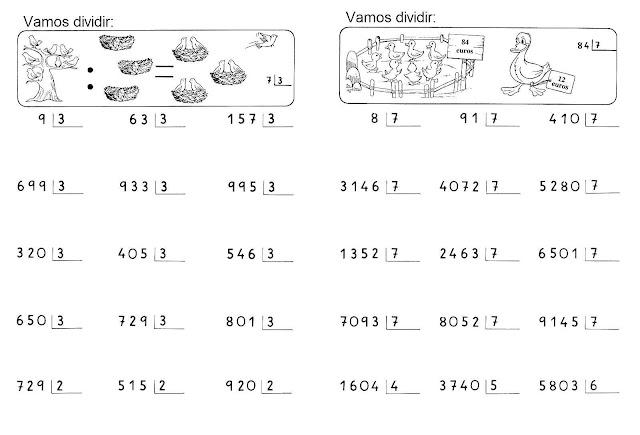 Matemática 3 ano fundamental divisão