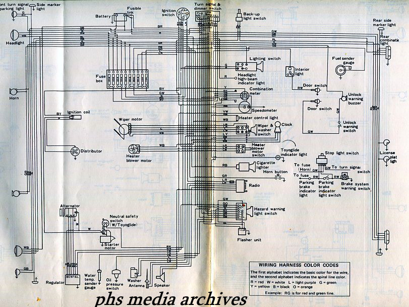 corolla%2B%2Bb519 tech files series 1968 1970 toyota corolla ke & te series wiring Simple Electrical Wiring Diagrams at fashall.co