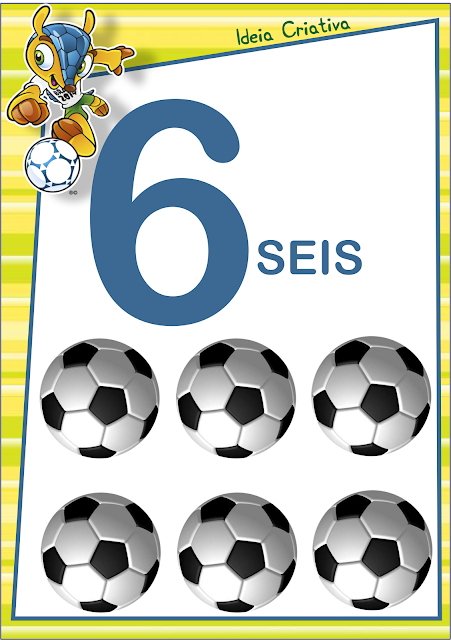 Numerais de Parede Copa do Mundo Mascote Fuleco