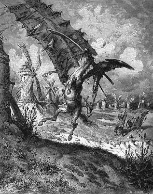 Molinos de viento (por Gustave Doré)