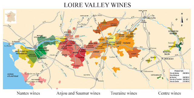 Vale do Loire Wine Map