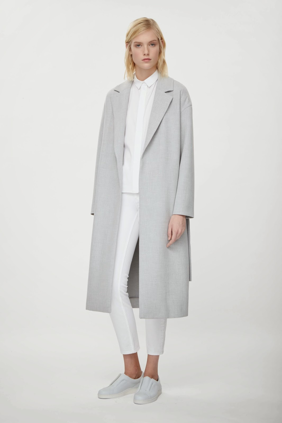 cos grey coat, cos light grey coat, light grey coat,