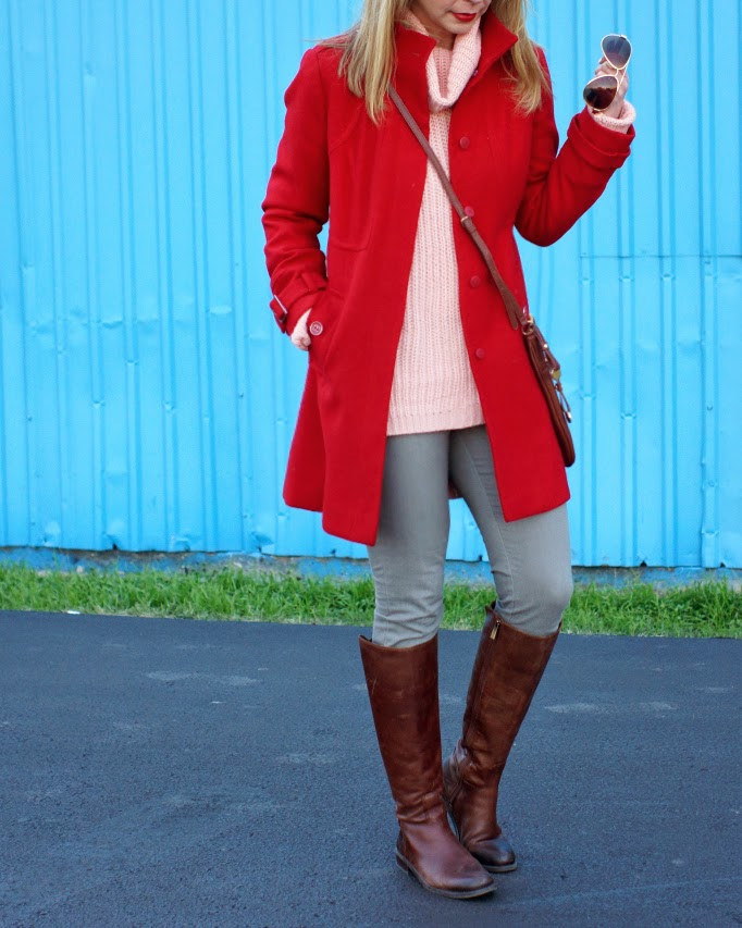 Winter Long Red Coat- Because Shanna Said So